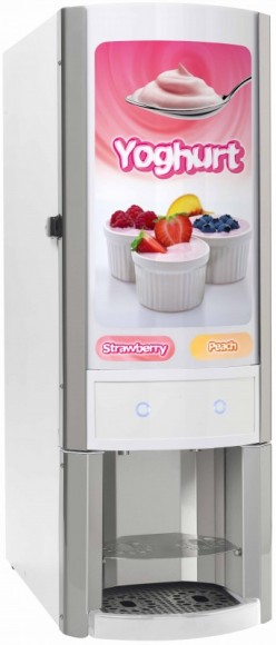 Yoghurt Yogurt dispenser for bag-in-box BIB